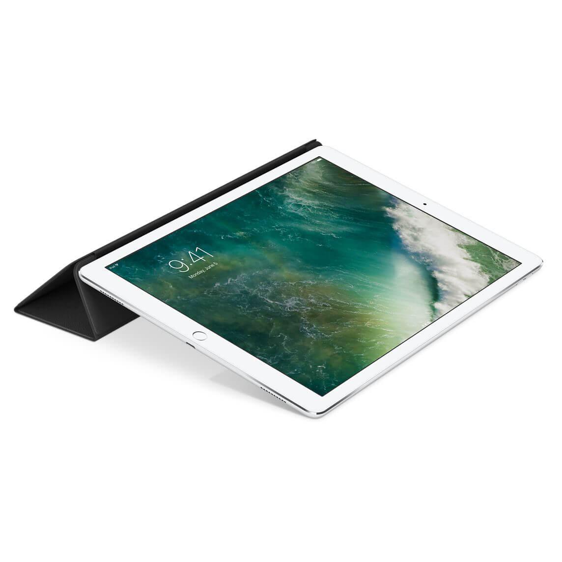 Nahkainen Smart Cover 12,9 tuuman iPad Prolle - musta