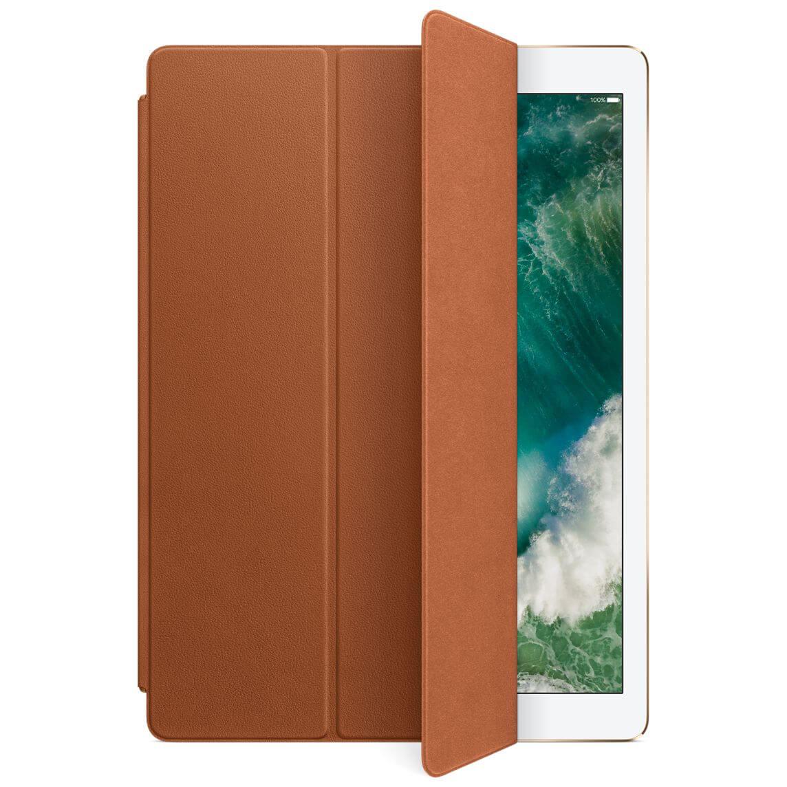 Nahkainen Smart Cover 12,9 tuuman iPad Prolle - satulanruskea