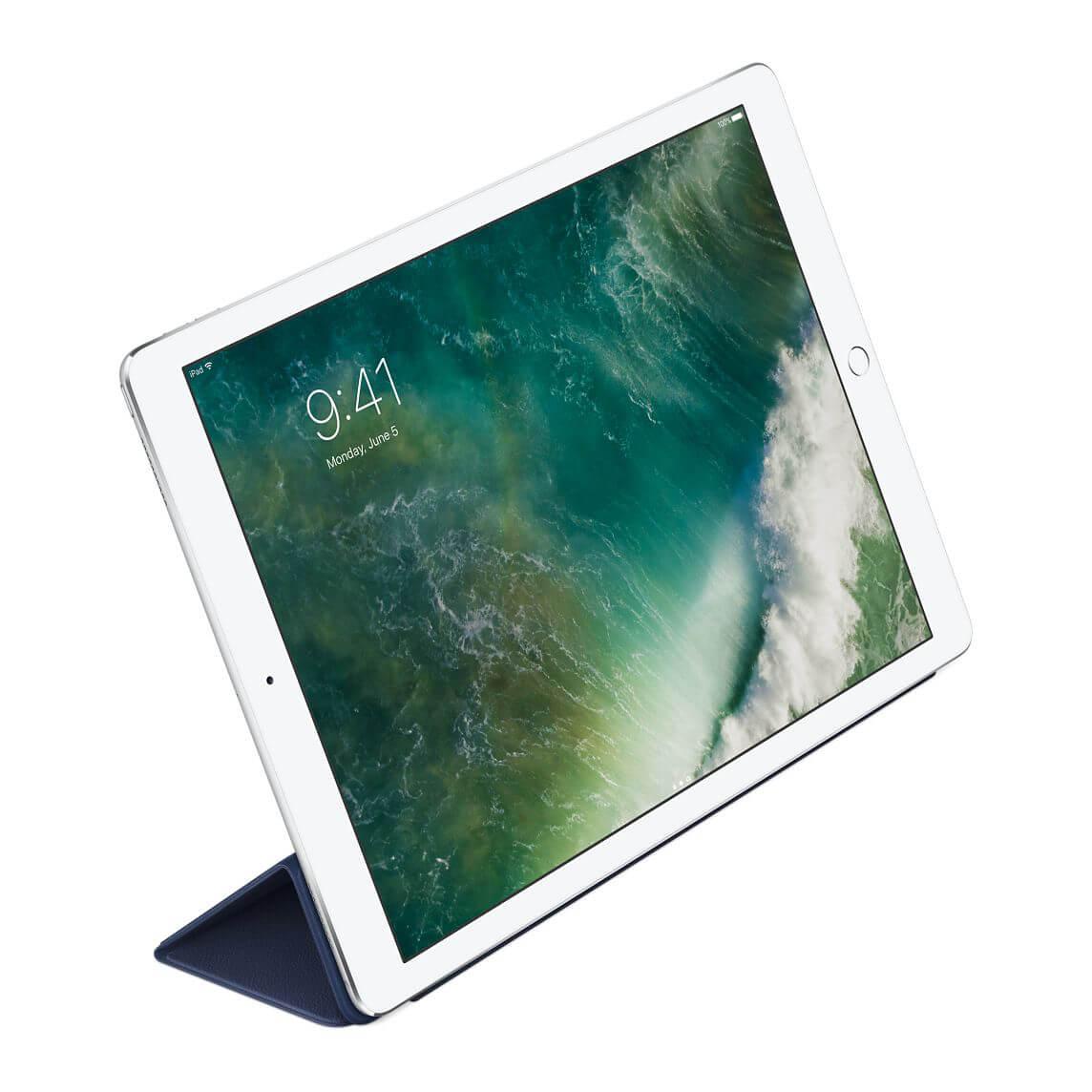 Nahkainen Smart Cover 12,9 tuuman iPad Prolle - yönsininen