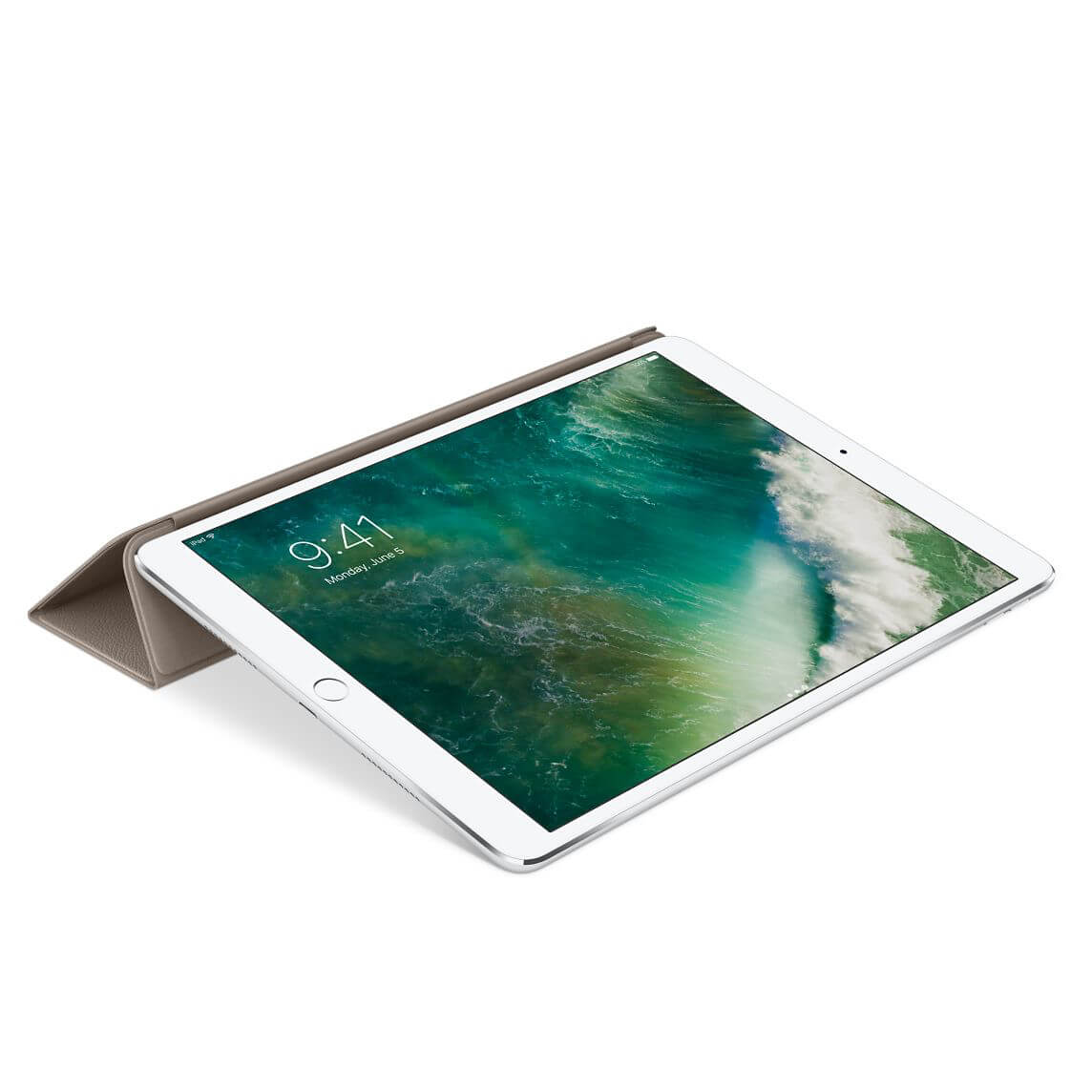 Nahkainen Smart Cover 10,5 tuuman iPad Prolle - kaarna
