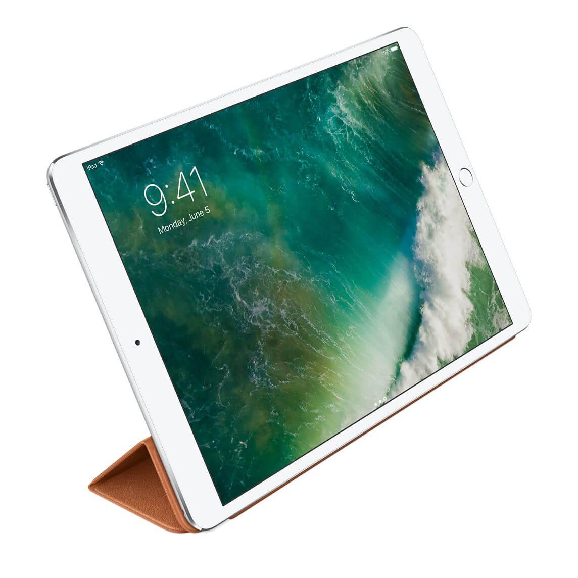 Nahkainen Smart Cover 10,5 tuuman iPad Prolle - satulanruskea