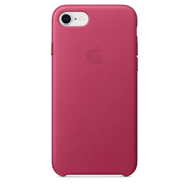 iPhone 7 ja 8 nahkakuori fuksia