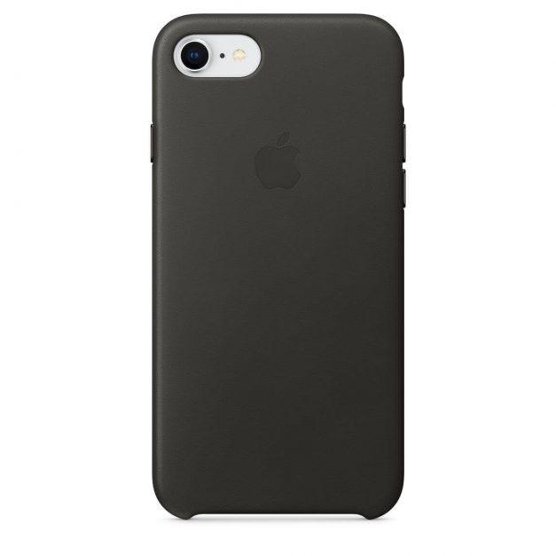 iPhone nahkakuori hiilenharmaa