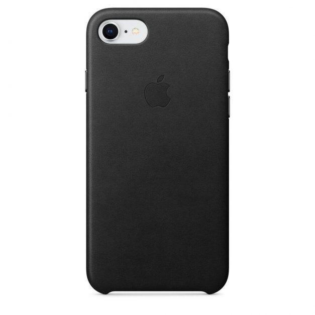 iPhone nahkakuori musta