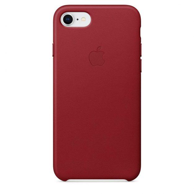 iPhone nahkakuori punainen