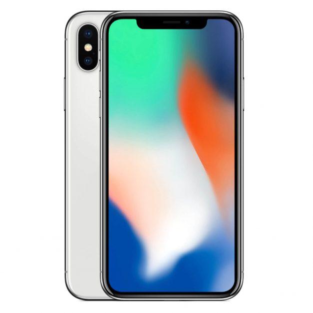 iPhone X hopea edestä