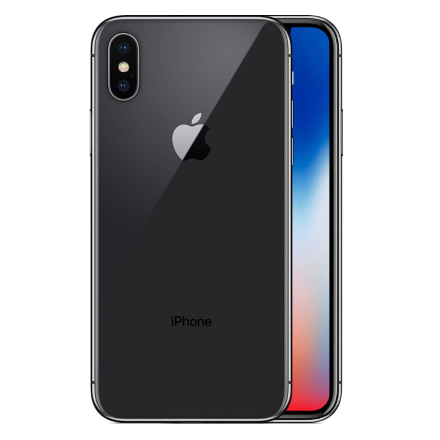iPhone X tähtiharmaa takaa