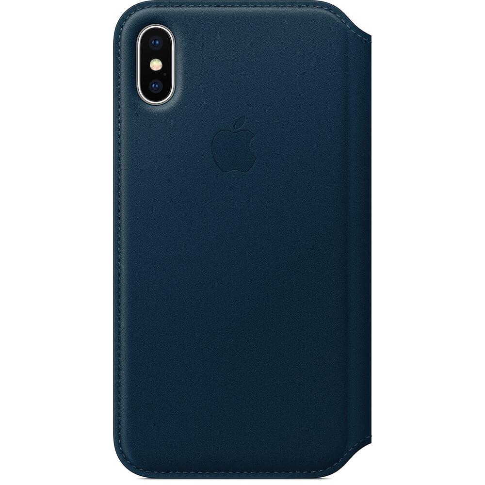 Nahkakotelo iphone X - Kosmoksensininen
