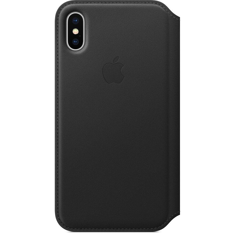 Nahkakotelo iphone X - Musta